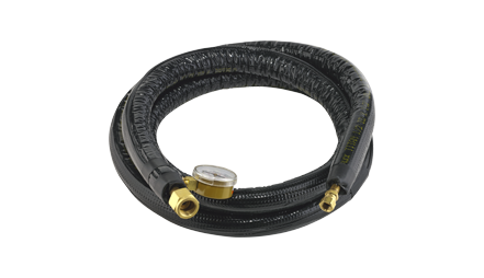 HIGH PRESSURE INSULATED INPUT HOSE for gas with gauge